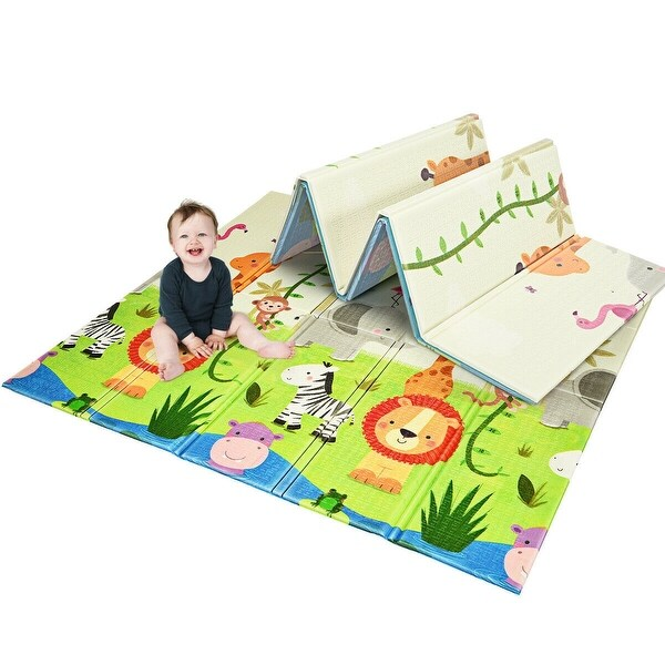 Portable Folding Baby Play Mat - Multi-Color. Opens flyout.