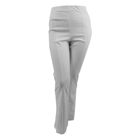 Inc International Concepts Women's Plus Pull-On Bootcut Pants (14, Washed White) - Washed White - 14