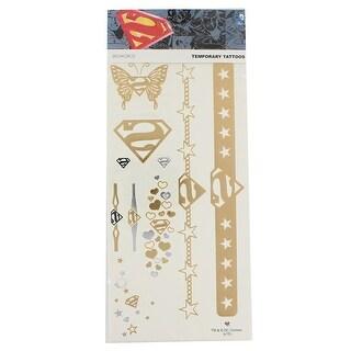 DC Comics Temporary Tattoo Sheet: Superman - Multi