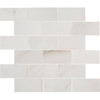 """MSI NARI2X4P  Aria - 2"""" x 4"""" Brick Joint Mosaic Tile - Glossy Porcelain Visual - Sold by Carton (8 SF/Carton)"""