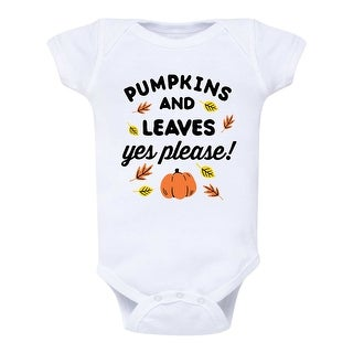 Pumpkins And Leaves Yes Please - Infant One Piece