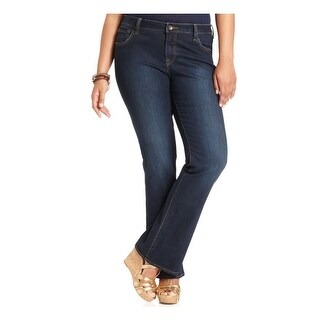 Lucky Brand Womens Plus Ginger Boot Cut Jeans Denim Classic-Rise