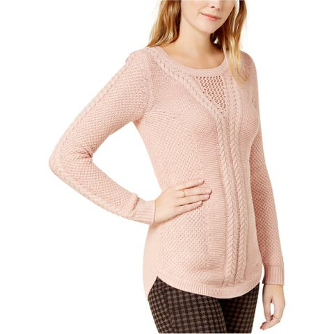 Maison Jules Womens Cable Knit Sweater