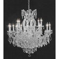 Swarovski Elements Crystal Trimmed Crystal Chandelier Lighting H38 x W37 - Thumbnail 0