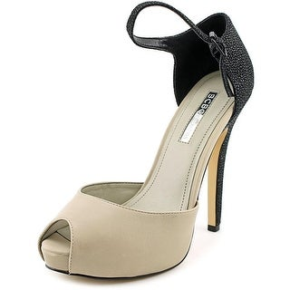BCBGeneration Lin Women Peep-Toe Leather Heels