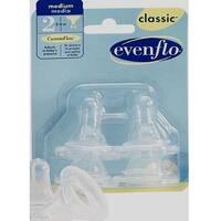 Evenflo Classic Silicone Medium Flow Nipples - 4 Pack