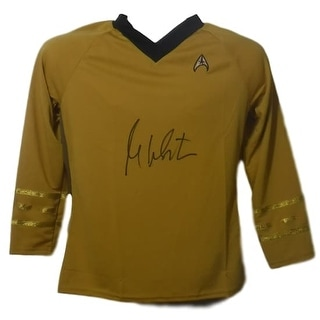 William Shatner Autographed Star Trek Rubbies Size L Shirt Uniform JSA