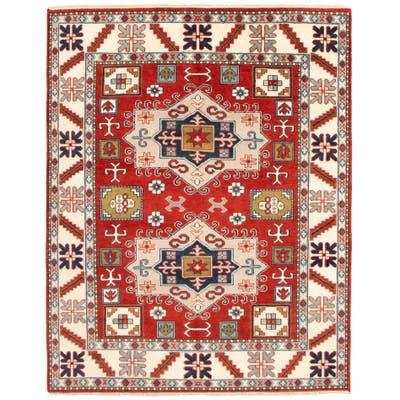 ECARPETGALLERY Hand-knotted Kazak Royal II Red Wool Rug - 7'11 x 10'7