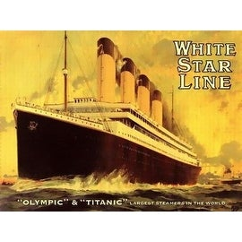 ''Olympic and Titanic'' by Anon Transportation Art Print (24 x 32 in.)
