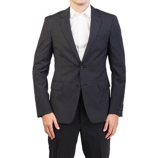 Prada Men's Virgin Wool Two-Button Sport Coat Jacket Checkered Black