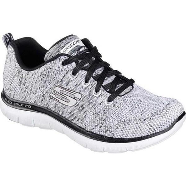 Skechers Women's Flex Appeal 2.0 High Energy Training Shoe White/Black