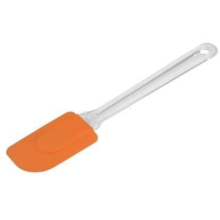 Kitchen Gadget Plastic Handle Nonstick Cake Cream Butter Spatula Scraper Orange