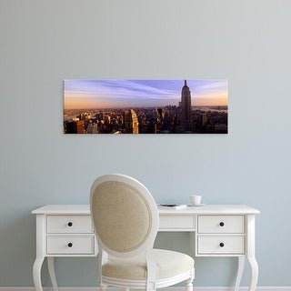 Easy Art Prints Panoramic Images's 'New York City skyline with Empire State Building, Manhattan, NY' Canvas Art