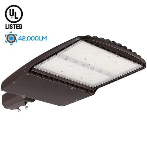 300W LED Slipfitter Shoebox Light, UL Listed, 5000K Daylight - 1 Pack