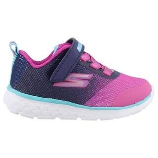 Skechers Kids Baby Girls Go Run 400 (Toddler) Navy/Pink