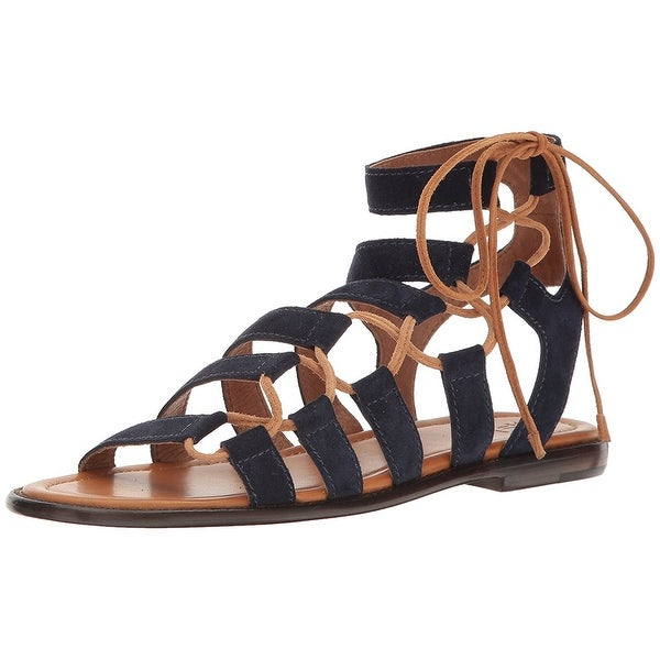 FRYE Womens Blair Suede Round Toe Casual Strappy Sandals