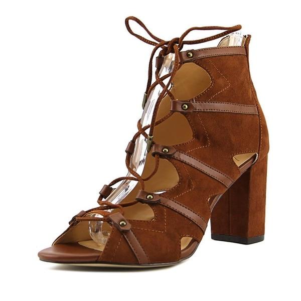 Daya by Zendaya Alfie Women Open Toe Synthetic Brown Sandals