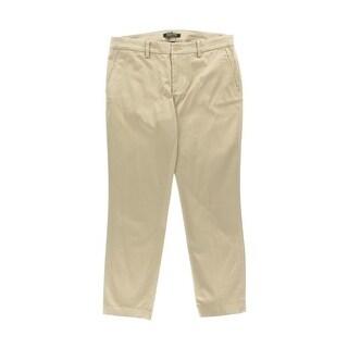 Lauren Ralph Lauren Womens Cropped Skinny Khaki Pants