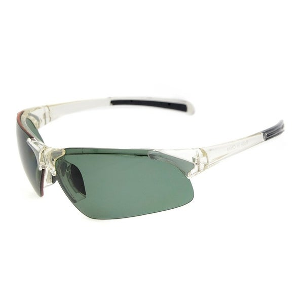 95a6303c57b6 Eyekepper Polycarbonate Half-Rimless Polarized Sport Sunglasses Half  Rimless TR90 Unbreakable Clear Frame G15