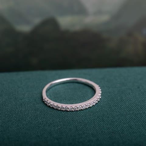 Miadora 10k White Gold 1/5ct TDW Diamond Stackable Anniversary Wedding Band Ring