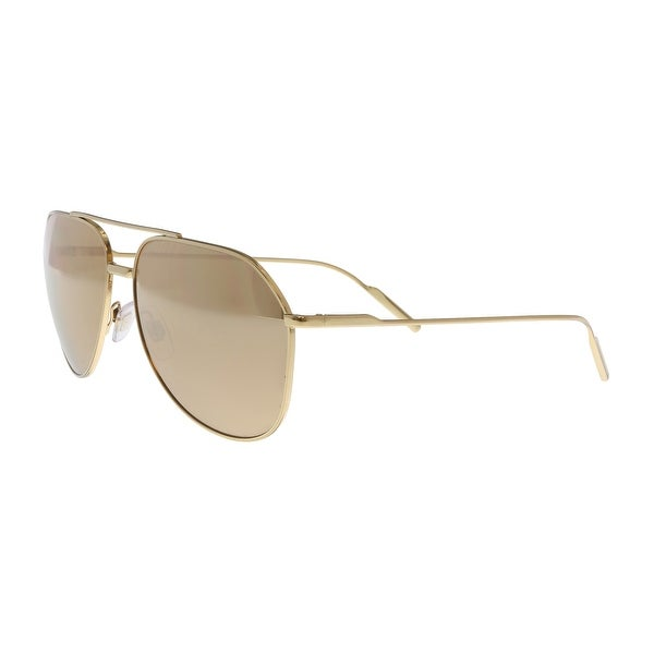 7bda851b32d1 Shop Dolce & Gabbana DG2166 K02/F9 Gold Aviator Sunglasses - No Size ...