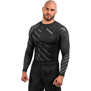 Hayabusa Odor Resist Long Sleeve MMA Compression Rashguard - Gray