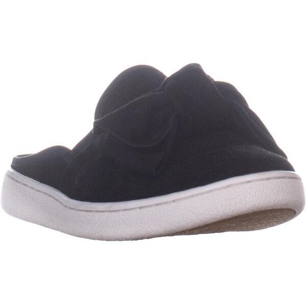 76135520395 Shop UGG Luci Bow Slip-On Flat Mules, Black Suede - 8 US / 39 EU ...