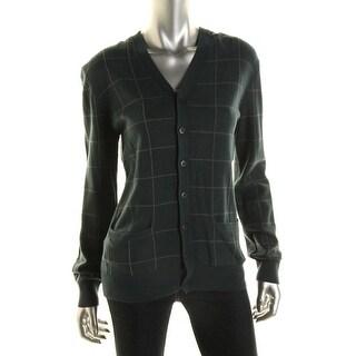 Inhabit Womens Knit Button-Front Cardigan Sweater - L