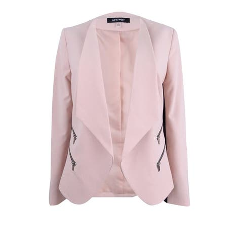Nine West Women's Zip-Pocket Open-Front Blazer
