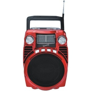 Supersonic Bluetooth Portable 4-band Radio (red)