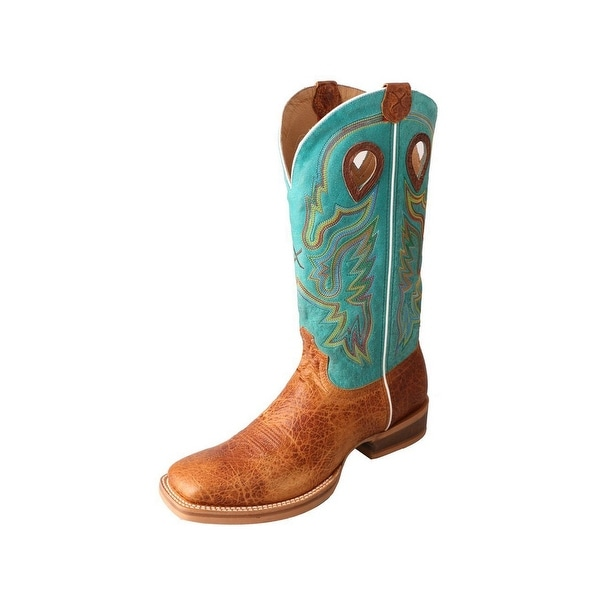 Twisted X Western Boots Mens Ruff Stock Square Rubber Brown