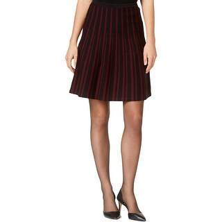 Anne Klein Womens A-Line Skirt Striped Pull On