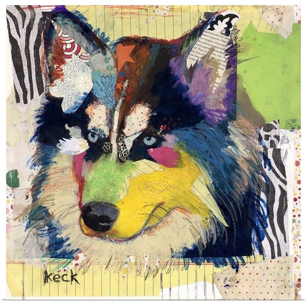 """Siberian Husky"" Poster Print"