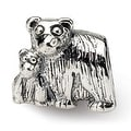 Sterling Silver Reflections Mama & Baby Bear Bead (4mm Diameter Hole) - Thumbnail 0
