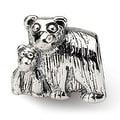 Sterling Silver Reflections Mama & Baby Bear Bead (4mm Diameter Hole) - Thumbnail 0