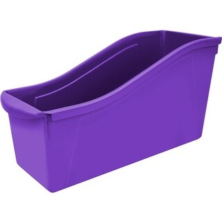 "Purple - Storex Large Book Bin 14.3""X5.3""X7"""