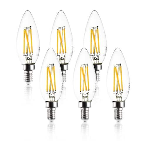 Light Society Set of 6 Arden C32 Clear LED Filament Light Bulbs