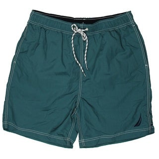 Nautica Mens Quick Dry Tie At Waist Swim Trunks