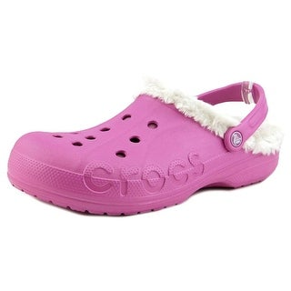 Crocs Baya Plush Men Round Toe Synthetic Pink Clogs