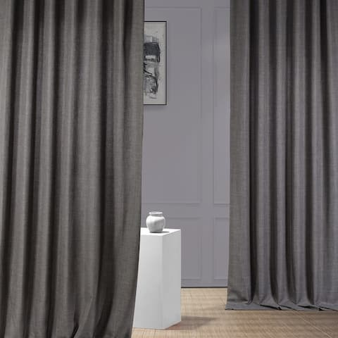 Exclusive Fabrics Italian Faux Linen Curtain