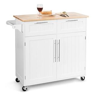 Costway Rolling Kitchen Cart Island Heavy Duty Storage Trolley Cabinet - See Details