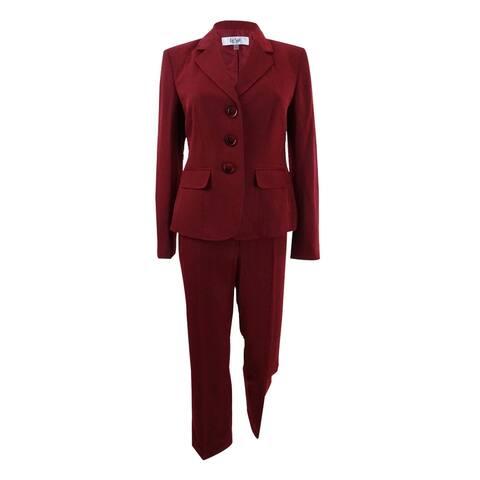 Le Suit Women's Petite Three-Button Pantsuit