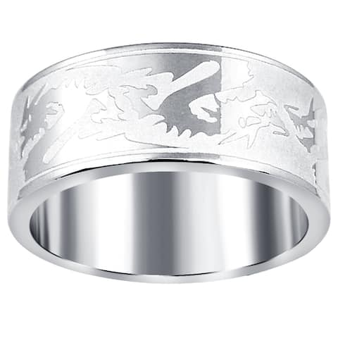 Unique Design Stainless Steel Band Rings by Orchid Jewelry
