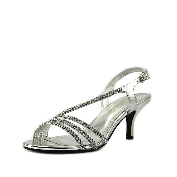Caparros Bethany Embellished Asymmetric Heeled Sandals Silver Metallic - 8 b(m)