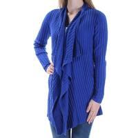 INC Womens Blue Long Sleeve Open Sweater  Size: XL
