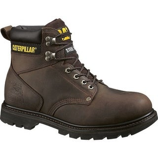 Cat P89586-11W Caterpillar Mens Second Shift Steel Toe Work Boot, Dark Brown, 11