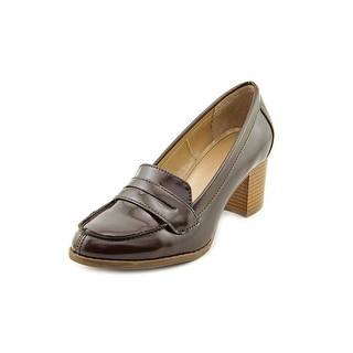 Style & Co Raphiela Women Round Toe Synthetic Brown Loafer