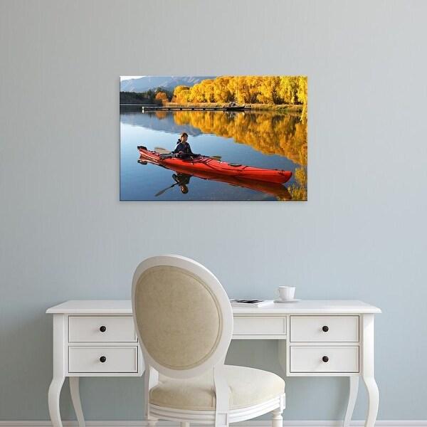 Easy Art Prints David Wall's 'North Otago Landscape Near Duntroon' Premium Canvas Art