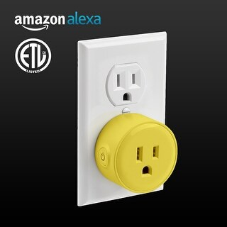 1/3 PACK LITEdge Smart Plug, Works with Alexa, Wi-Fi Accessible, Single Socket,Yellow