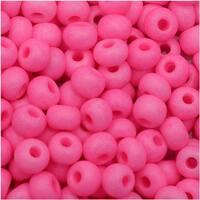 Czech Seed Beads 6/0 - Neon Hot Pink (25 Grams)